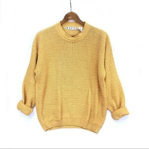 Vintage Oversized Yellow Knit Sweater